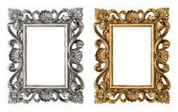 Frame picture, photo, image. Vintage baroque object Stock Images
