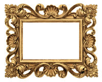 Frame picture, photo, image. Vintage golden baroque object Royalty Free Stock Photo