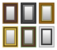 Frame Picture Photo Mirror. A set of picture and mirror frame Royalty Free Stock Photography