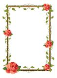 Frame for picture with rose Stock Photo