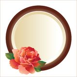 Frame for picture with rose stock illustration