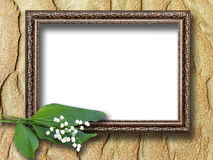 Frame for pictures on the background of sand dunes Royalty Free Stock Image