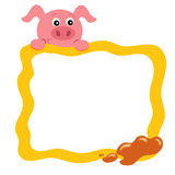 Frame with pig Stock Photos