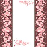 Frame with pink cherry flowers Royalty Free Stock Image