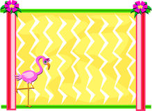 Frame with a Pink Flamingo Royalty Free Stock Image