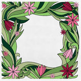 Frame with a pink flowers Royalty Free Stock Photos