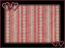 Frame with pink hearts and background