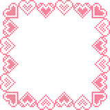 Frame with  pink hearts Stock Image