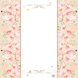 Frame with pink roses Stock Photos