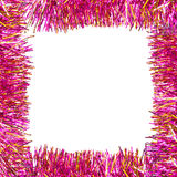 Frame of pink tinsel Stock Photography
