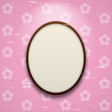 Frame on pink wall Royalty Free Stock Photos