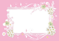 Frame with pink and white flowers Royalty Free Stock Photos