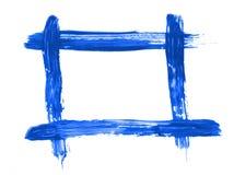 Frame pintado azul foto de stock