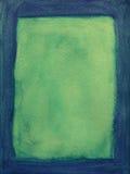 Frame pintado verde e azul Fotos de Stock Royalty Free
