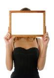 Frame in plaats van hoofd Stock Afbeeldingen