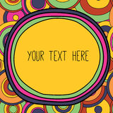 Frame with a place for your text, psychedelic styling Stock Photography