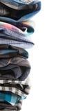 Frame of Plaid Men's Shirts Stock Image