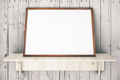Frame on planks Royalty Free Stock Photography