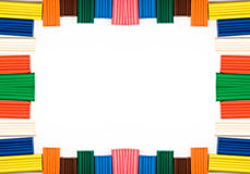 Frame from plasticine. Royalty Free Stock Images