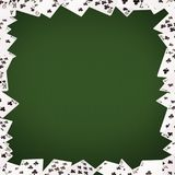 Frame of playing cards on background. Casino concept Stock Photography