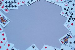 Frame of Playing Cards royalty free stock photography