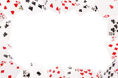 Frame of playing cards on a white background Royalty Free Stock Images