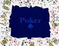 The frame of the poker cards Royalty Free Stock Photos