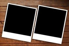 Frame polaroid black and white wood Royalty Free Stock Image