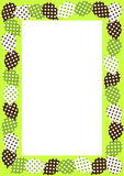 Frame with polka dot balloons border Royalty Free Stock Photo