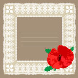 Frame and poppy  Stock Images