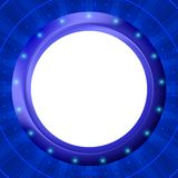 Frame porthole on blue background Royalty Free Stock Images