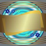 Frame prateado e dourado abstrato ilustração do vetor