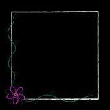 Frame preto da flor de Grunge Ilustração Royalty Free