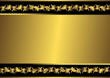Frame preto e dourado do vintage (vetor) ilustração do vetor