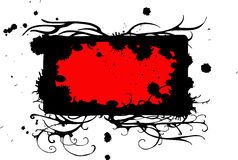 Frame preto vermelho Imagens de Stock