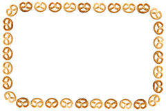 Frame of pretzel stock photos