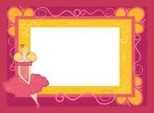Frame with princess. Frame in the style of scrap-booking for a princess vector illustration