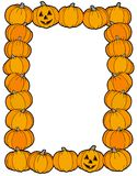 Frame from pumpkins Royalty Free Stock Images