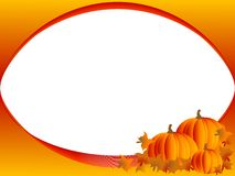 Frame with pumpkins Royalty Free Stock Photos