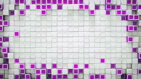 Frame of purple 3D boxes and free space abstract background. Frame of purple boxes and free space. Abstract background. 3D rendering Royalty Free Stock Photo