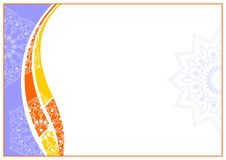 Frame_0005. Purple Orange Landscape a4. Editable Vector, you can edit Part by part for design. for Frame of Educations Certificate or Organizations, please open Royalty Free Illustration