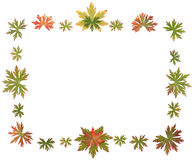 Frame put from autumn sheet Royalty Free Stock Photos