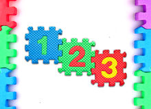 Frame puzzle with number on white background Royalty Free Stock Image