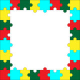 Frame puzzle template Royalty Free Stock Photography