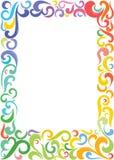 Frame quadrado colorido ilustração stock