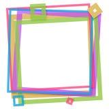 Frame quadrado colorido Imagens de Stock Royalty Free