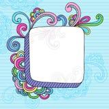Frame quadrado do Doodle 3D do caderno Fotos de Stock Royalty Free