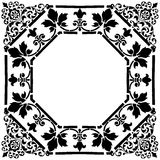 Frame quadrado do Victorian fotografia de stock