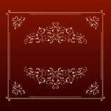 Frame quadrado dourado do projeto elegante Fotos de Stock Royalty Free