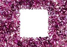 Frame quadrado feito de muitos diamantes pequenos do rubi Imagens de Stock Royalty Free